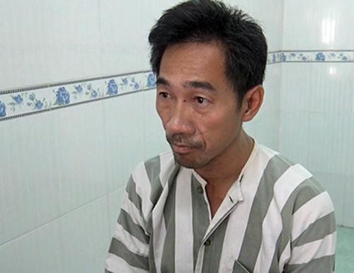 Kouch Pheng Leng tại cơ quan điều tra. Ảnh: Nhật Vy.