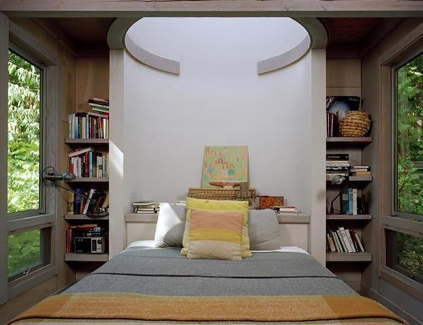 Đồ nội thất hiện đại nhưng vẫn hòa hợp tuyệt vời với  thiên nhiên xanh mát