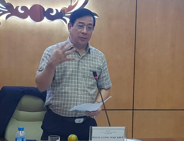 PGS.TS Lương Ngọc Khuê - Cục trưởng Cục Quản lý khám chữa bệnh (Bộ Y tế).