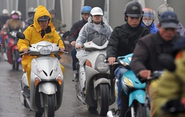 Không khí lạnh tiếp tục tăng cường khiến miền Bắc mưa rét