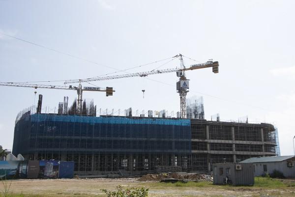 Công trình dự án Citadines Marina Hạ Long, nơi xảy ra vụ việc khiến 2 nam công nhân tử vong. Ảnh: N.Quốc
