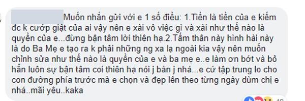 Fan bày tỏ ý kiến ủng hộ Kỳ Duyên.