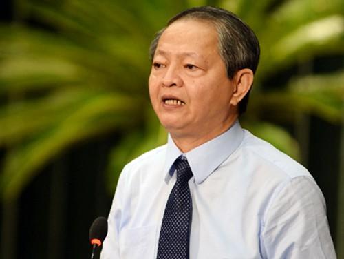 Phó chủ tịch UBND TP HCM Lê Văn Khoa. Ảnh: Ngọc Hậu.