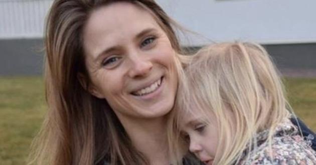 Anna Larsson và con gái