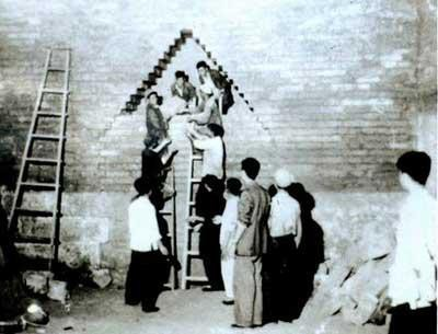 Đoàn khảo cổ của Quách Mạt Nhược đã đánh liều tiến hành khai quật. (Ảnh: Nguồn Baidu).