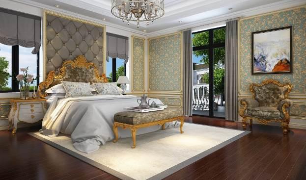 Phòng ngủ master của vợ chồng anh Hùng