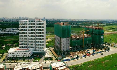 Một dự án căn hộ giá rẻ tại TP HCM. Ảnh: Hao Bui