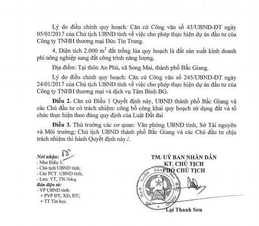 Quyết định số 183/QĐ-UBND ngày 7/4/2017 của UBND tỉnh Bắc Giang