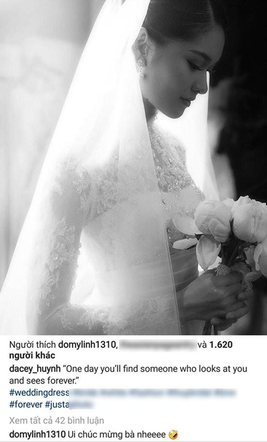 Bên dưới dòng trạng thái của Thùy Dung, Hoa hậu Mỹ Linh đã vào gửi lời chúc mừng.