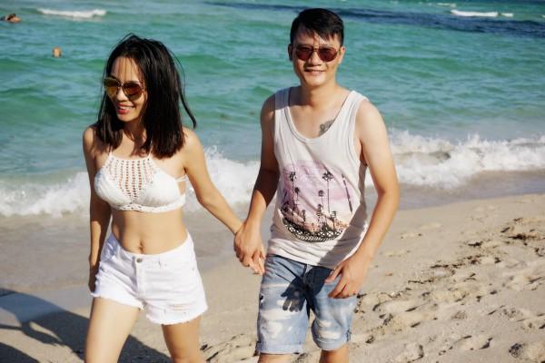Hoàng Bách và bà xã Thanh Thảo