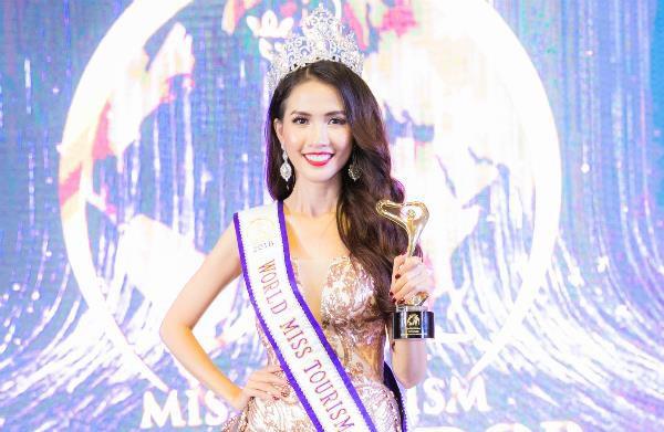 Phan Thị Mơ đăng quang Hoa hậu Đại sứ Du lịch thế giới sau 7 lần thi nhan sắc.