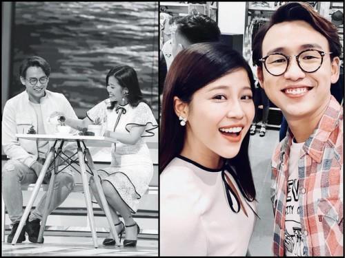 MC Cao Vy và MC Quang Bảo trong chương trình Vì yêu mà đến