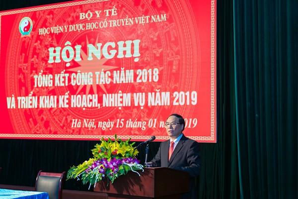 PGS.TS Đậu Xuân Cảnh, Giám đốc Học viện Y Dược học cổ truyền Việt Nam