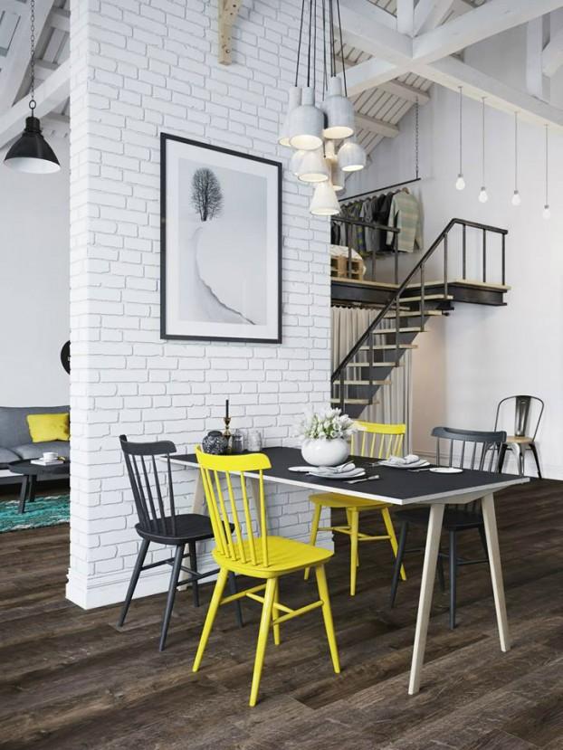 Căn hộ 25m² chuẩn phong cách Scandinavia sử dụng màu vàng táo bạo - Ảnh 5.