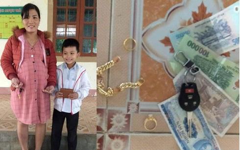 Hà Tĩnh: Nhặt được của rơi và tiền trị giá 20 triệu đồng, học sinh lớp 3 tìm người trả lại - Ảnh 1.