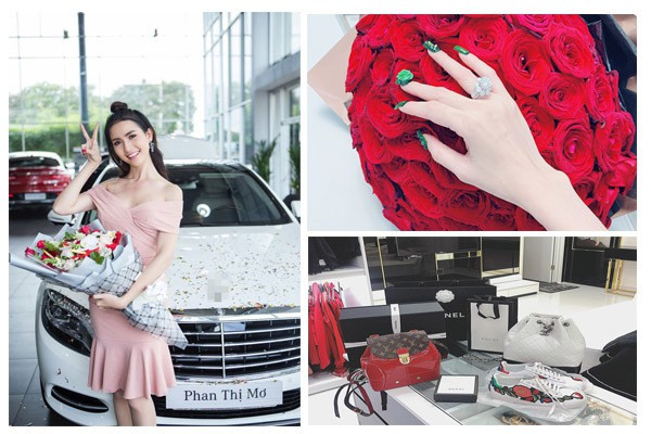 Phan Thị Mơ là người đẹp sở hữu nhà lầu, xe hơi cùng nhiều món đồ hiệu đắt tiền. Tuy nhiên cô không nhận khi được gọi là đại gia ngầm của showbiz.