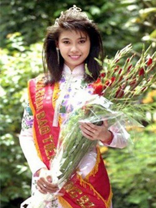Hà Kiều Anh thời điểm đăng quang HHVN 1992.