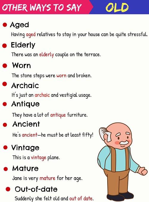 Những tính từ đồng nghĩa với old