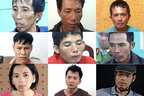 9 bị can liên quan vụ sát hại nữ sinh Cao Mỹ Duyên.