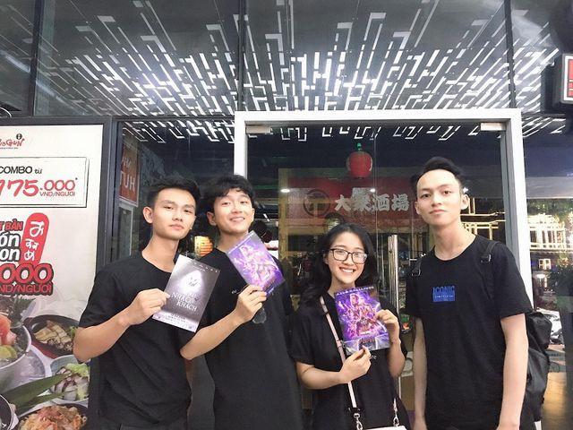Đức Thắng - Thiện Khiêm - Cẩm Linh - Quang Huy (từ trái qua phải)