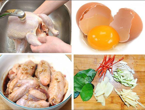 Quy trình sơ chế và ướp làm gà rang muối