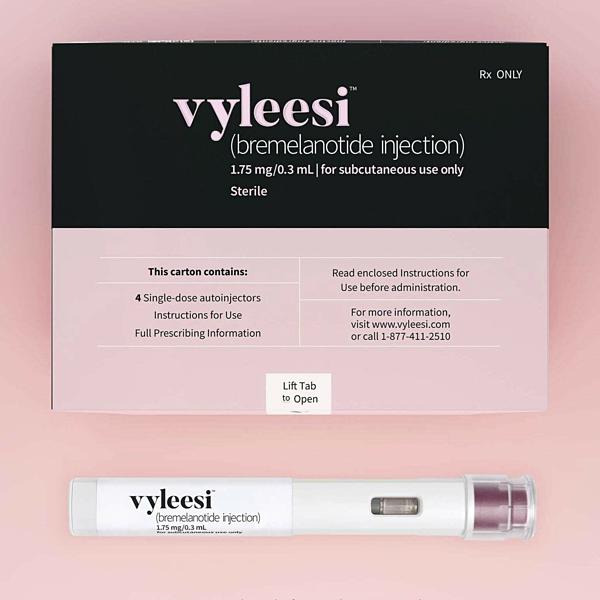 Bao bì và sản phẩm thuốc Vyleesi.