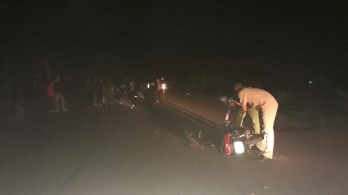Hiện trường vụ tai nạn khiến thí sinh Tòng Văn Thành không được tham gia kỳ thi tốt nghiệp THPT.