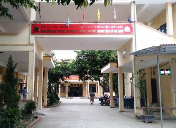 Trung tâm Y tế huyện Quỳ Châu - nơi xảy ra sự việc.