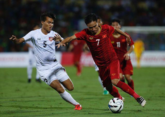 Triệu Việt Hưng và đồng đội đã có chiến thắng dễ dàng trước U23 Myanmar