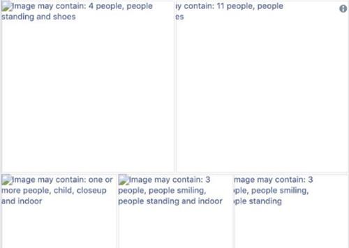 Facebook tự động gắn thẻ dựa trên nội dung của bức ảnh.