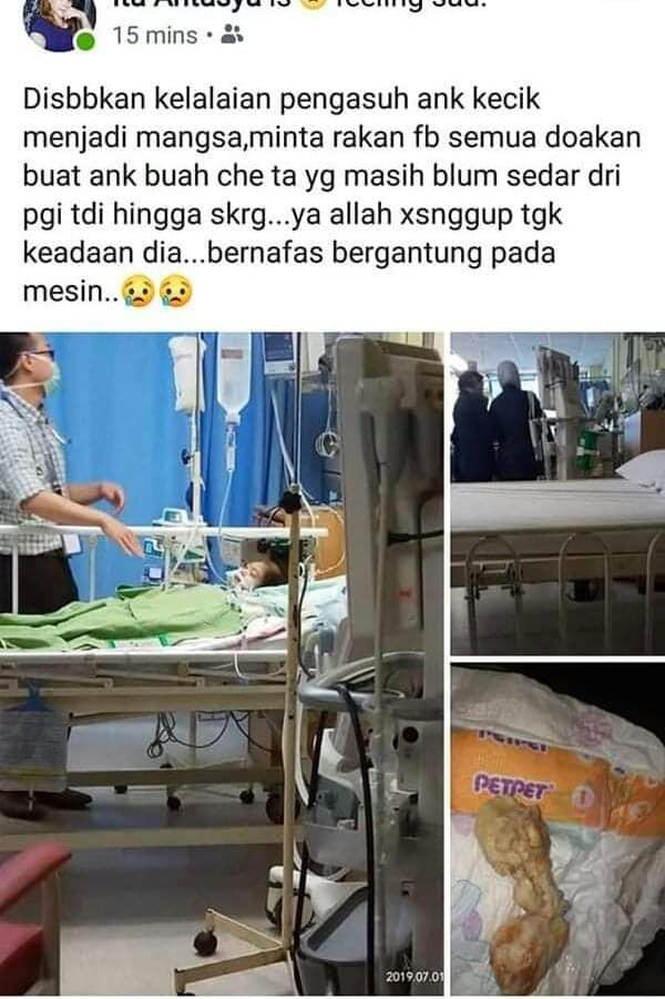 Nia được cấp cứu 4 ngày trong bệnh viện nhưng không qua khỏi.