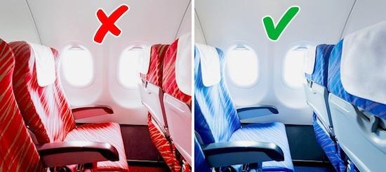 Không phải tự nhiên mà ghế máy bay thường có màu xanh, lý do liên quan đến cả sức khỏe của hành khách - Ảnh 1.