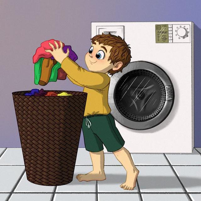 Những việc nhà phù hợp với từng độ tuổi của trẻ - Ảnh 1.