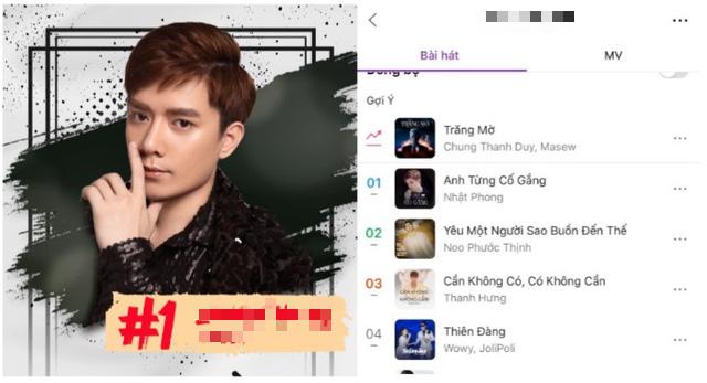 """Ca khúc nào """"vượt mặt"""" bản hit của Noo Phước Thịnh? - Ảnh 1."""