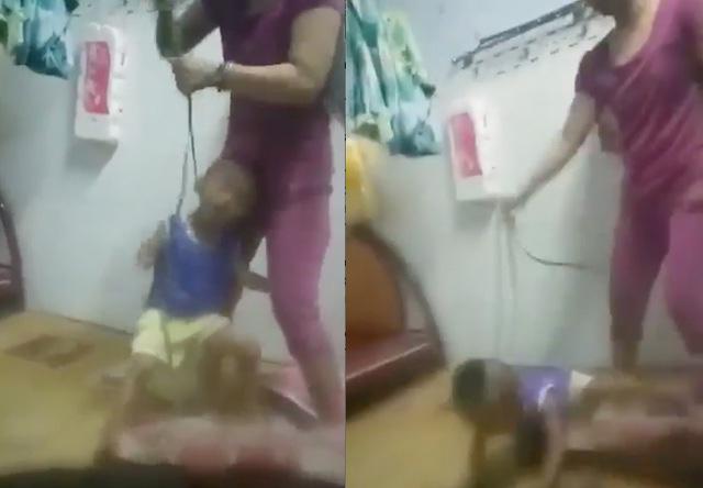 Xác minh thông tin bé trai bị mẹ cột dây vào cổ, bạo hành dã man  - Ảnh 1.