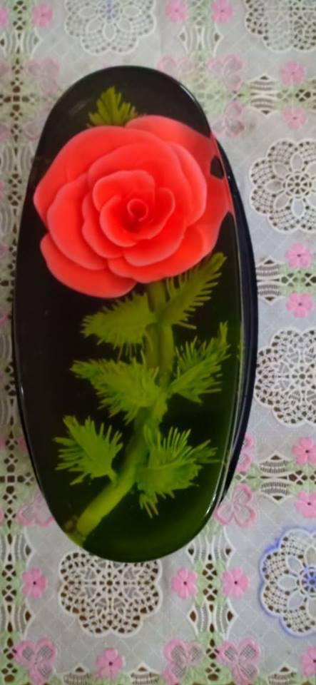 Ăn bánh thạch 3D hoa hồng cho ngày lễ Tình nhân năm nay - Ảnh 3.