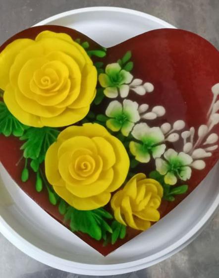 Ăn bánh thạch 3D hoa hồng cho ngày lễ Tình nhân năm nay - Ảnh 9.