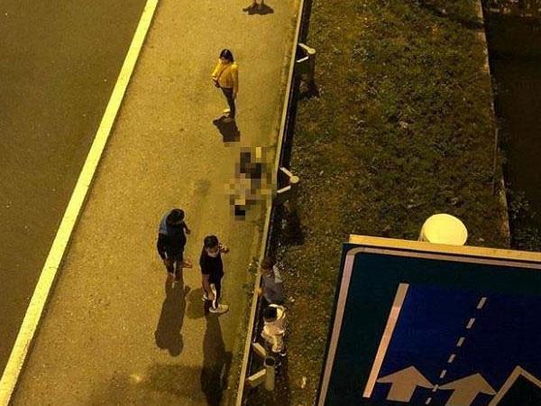 Nam thanh niên nhảy từ cầu vượt xuống đường cao tốc ở Hải Phòng tử vong - Ảnh 1.