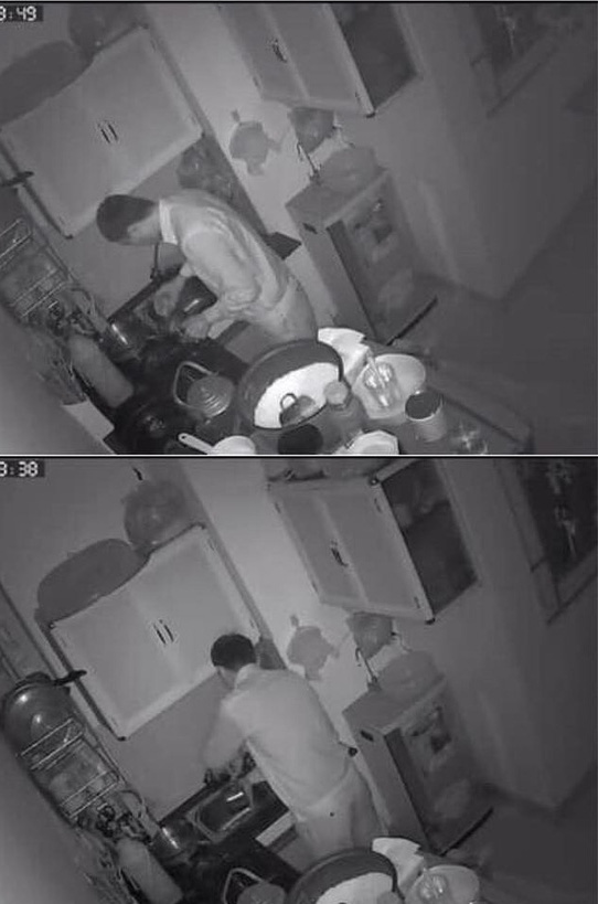 Xem camera an ninh thấy chồng mò mẫm một mình dưới bếp, biết lý do vợ không khỏi cay mắt - Ảnh 1.