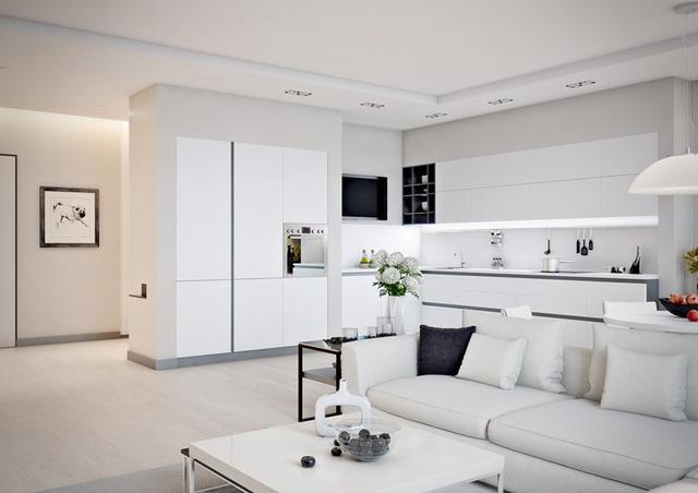 Những mẫu phòng khách liền kề nhà bếp được ưa chuộng nhất hiện nay - Ảnh 3.