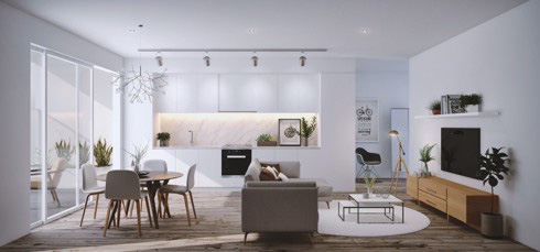 Những mẫu phòng khách liền kề nhà bếp được ưa chuộng nhất hiện nay - Ảnh 6.