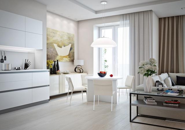 Những mẫu phòng khách liền kề nhà bếp được ưa chuộng nhất hiện nay - Ảnh 9.
