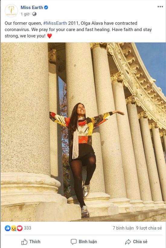 Hoa hậu Trái Đất 2011 dương tính với Covid-19 - Ảnh 1.