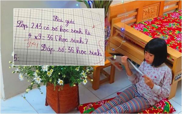 Bài toán lớp 2 tưởng đơn giản mà cách chấm của cô gây thắc mắc, phụ huynh hỏi và nhận được lời giải thích vô cùng bất ngờ - Ảnh 2.
