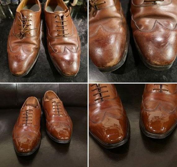 Bôi nước tẩy sơn móng tay lên chiếc giày da yêu thích nhưng bị xước tùm lum, kết quả sau đó sẽ khiến bạn phải ngạc nhiên - Ảnh 7.