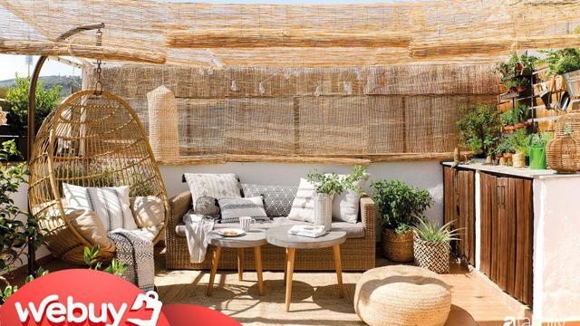 """Biến sân thượng nhạt nhẽo thành góc """"chill"""" siêu yêu với những món đồ dùng, decor này - Ảnh 1."""