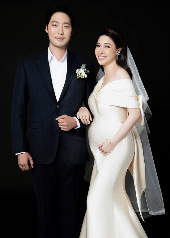 Pha Lê bế bầu chụp ảnh cưới cùng chồng Mỹ gốc Hàn - Ảnh 4.