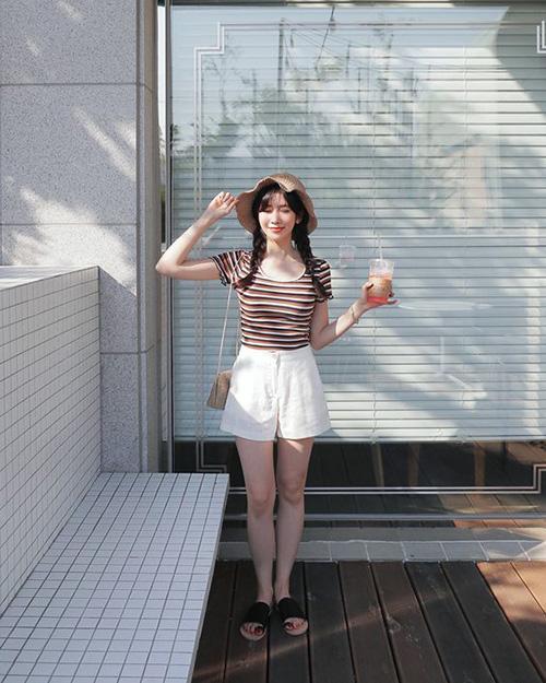 Tôn dáng bằng quần short mùa hè - Ảnh 2.