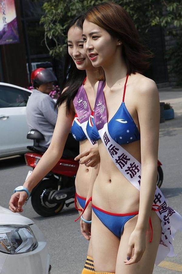 Diễn áo tắm giữa phố và sự bát nháo của cuộc thi hoa hậu ở Trung Quốc - Ảnh 5.