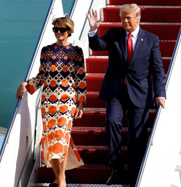 حال و هوای متضاد همسر و دخترش دونالد ترامپ هنگام خروج از کاخ سفید جلب توجه کرد - عکس 2.